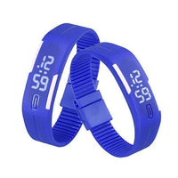 LED Digital Silicone Watch Blue Watches