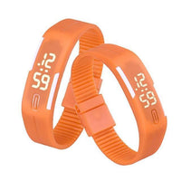 LED Digital Silicone Watch Orange Watches