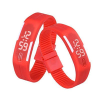 LED Digital Silicone Watch Red Watches