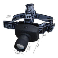 LED Waterproof Headlight With Zoom LED Headlight Headlamp