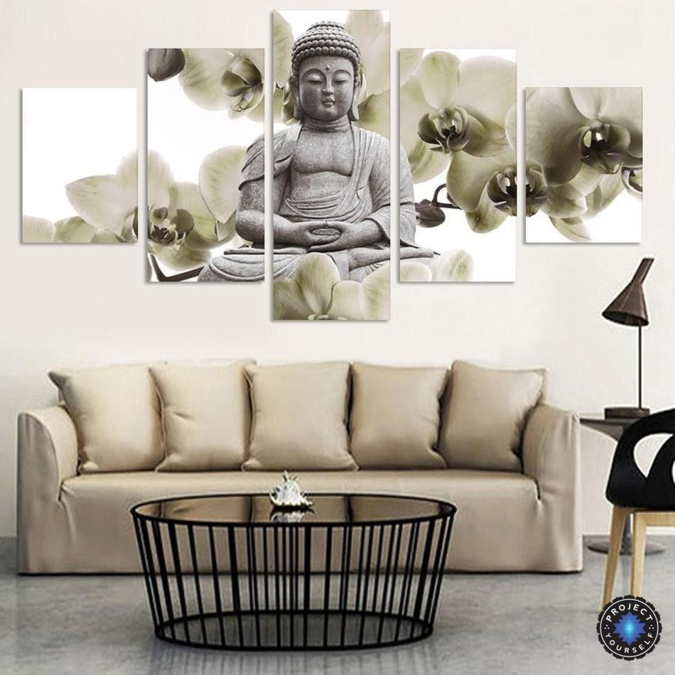 Limited Edition Feng Shui Buddha Painting 5 Piece Canvas - Project ...