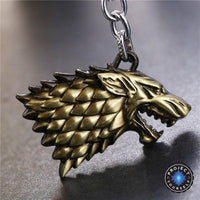 Limited Edition Game of Thrones Winter Is Coming Stark Keychain Bronze Keychains