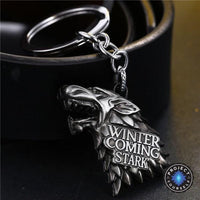 Limited Edition Game of Thrones Winter Is Coming Stark Keychain Keychains