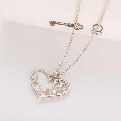 Limited Edition Intricate Heart Crystal Pendant Necklace Necklace