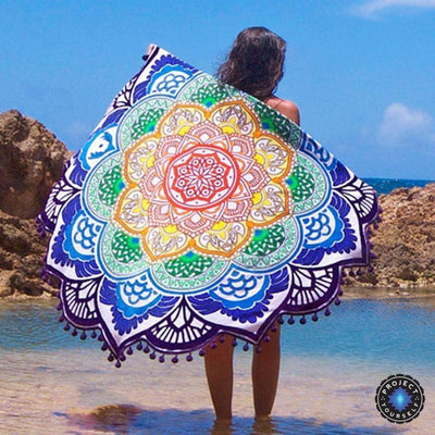 Limited Edition Rounded Mandala Boho Tapestry Pattern 1 Tapestry