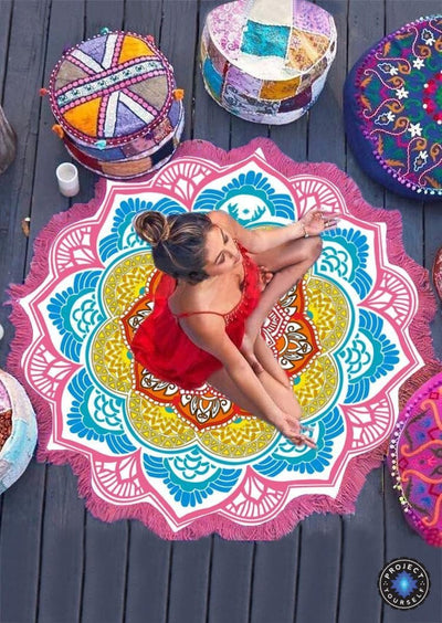 Limited Edition Rounded Mandala Boho Tapestry Pattern 3 Tapestry