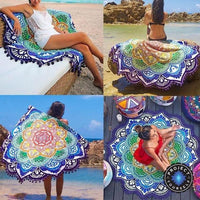 Limited Edition Rounded Mandala Boho Tapestry Tapestry