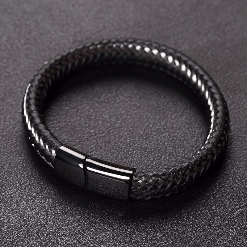 Limited Edition Stainless Steel Wire Cable Leather Bracelet ...