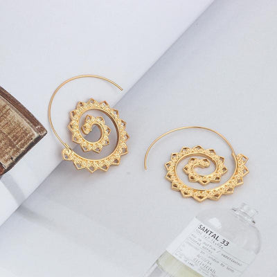 Lotus Spiral Drop Earrings Earrings