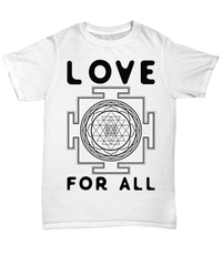 Love For All Unisex Tee / White / sml Shirt / Hoodie