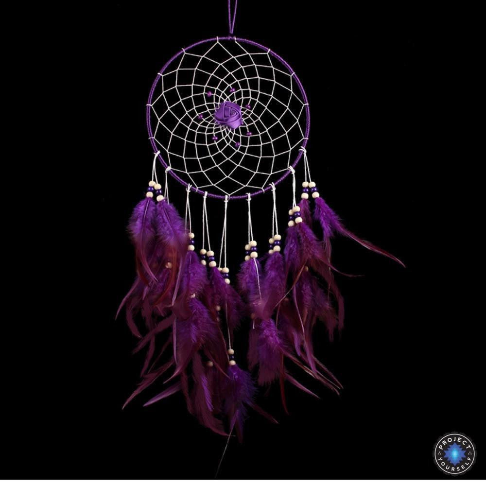 lovely purple rose dream catcher project yourself