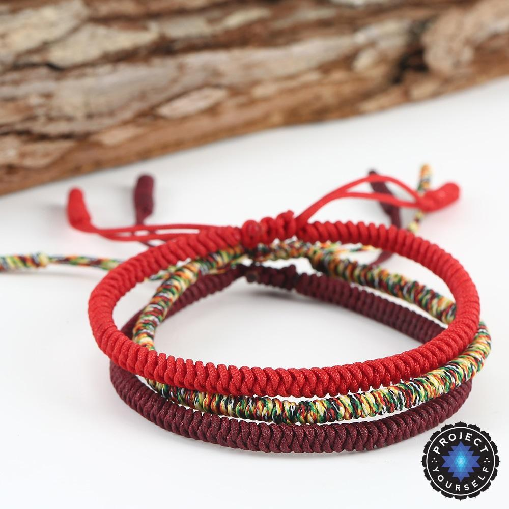 buddhist bracelet products rope handmade lucky knots yourself project