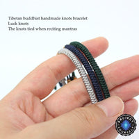 Lucky Handmade Buddhist Knots Rope Bracelet (New Colors!) Bracelet