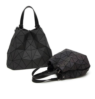 Luminous Aurora Geometric Tote Bags
