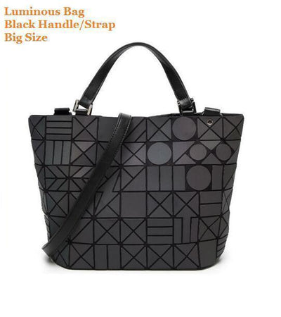 Luminous Aurora Geometric Tote Circle - black handle BIG Bags
