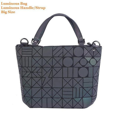 Luminous Aurora Geometric Tote Circle - luminous handle BIG Bags