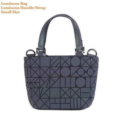 Luminous Aurora Geometric Tote Circle - luminous handle SMALL Bags