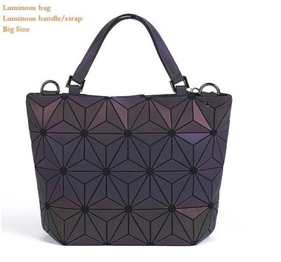Luminous Aurora Geometric Tote Flower - luminous handle BIG Bags