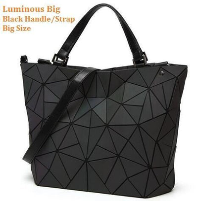 Luminous Aurora Geometric Tote Geometry - black handle BIG Bags