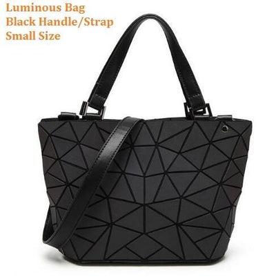 Luminous Aurora Geometric Tote Geometry - black handle SMALL Bags