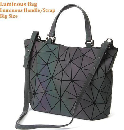 Luminous Aurora Geometric Tote Geometry - luminous handle BIG Bags