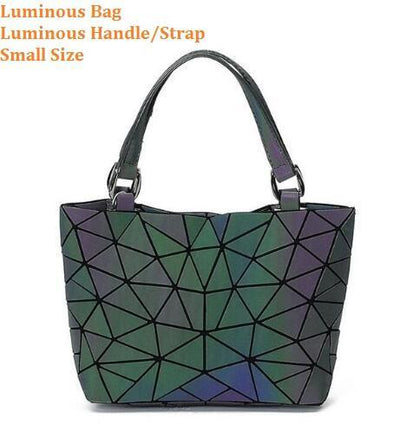 Luminous Aurora Geometric Tote Geometry - luminous handle SMALL Bags