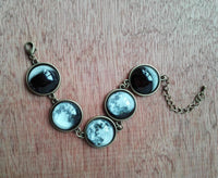 Luminous Phases of the Moon Glass Jewelry Necklace