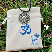 Majestic Lotus Mandala Om Necklace Necklace