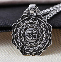 Majestic Lotus Mandala Om Necklace Style 2 - Chain Necklace
