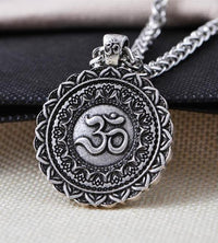 Majestic Lotus Mandala Om Necklace Style 4 - Chain Necklace