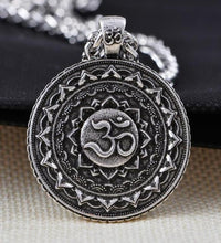 Majestic Lotus Mandala Om Necklace Style 5 - Chain Necklace
