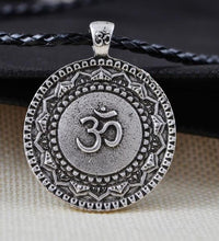 Majestic Lotus Mandala Om Necklace Style 6 - Cord Necklace