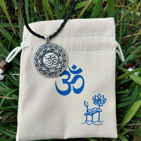 Majestic Lotus Mandala Om Necklace Style 7 - Cord Necklace