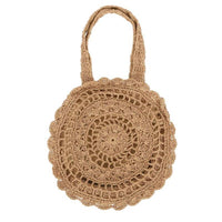 Mandala Knitted Straw Bag Bags