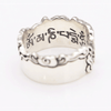 Mantra in the Clouds Sterling Silver Ring Rings