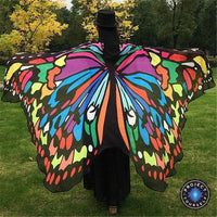Mariposa Wings Beach Shawl Multicolor Tapestry