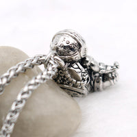 Meditating Astronaut Stainless Steel Necklace Necklace