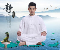 Men's Linen Meditation Clothing 2-Piece Set Clothing
