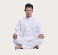Men's Linen Meditation Clothing 2-Piece Set White / M Clothing