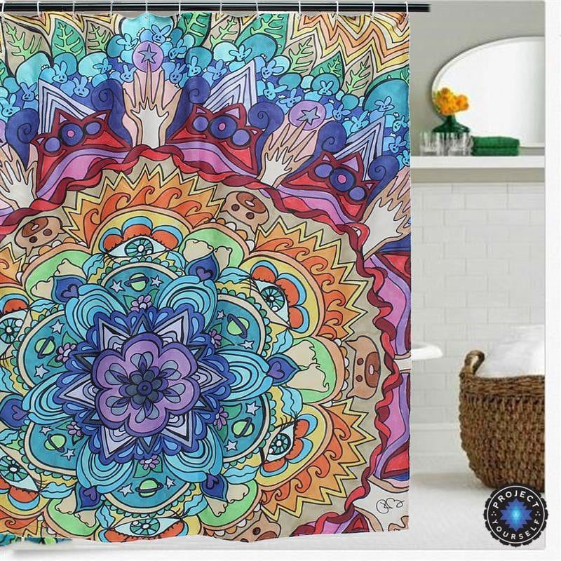 Mesmerizing Mandala Shower Curtain Decoration