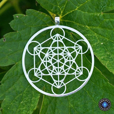 Metatron's Cube Pendant Necklace Silver Necklace