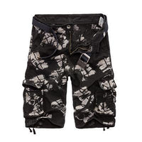 Military Cargo Shorts Black Acid / 29 Men's Wear