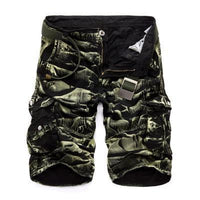 Military Cargo Shorts Black Green / 29 Men's Wear
