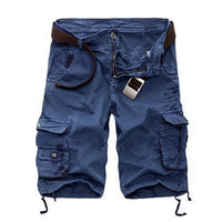 Military Cargo Shorts Blue / 29 Men's Wear