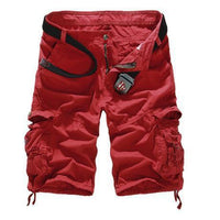 Military Cargo Shorts Burgundy / 29 Men's Wear