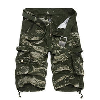 Military Cargo Shorts Green Acid / 36 Men's Wear