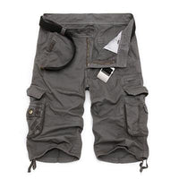 Military Cargo Shorts Grey / 29 Men's Wear