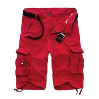 Military Cargo Shorts Red / 29 Men's Wear