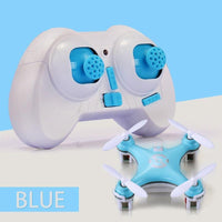 Mini Quadcopter Drone Remote Control Toy with LED Lights Blue Toys
