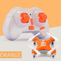 Mini Quadcopter Drone Remote Control Toy with LED Lights Orange Toys